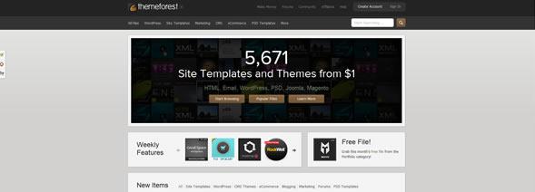 marketplace di template di siti web