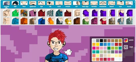 screenshot creazione mangatar